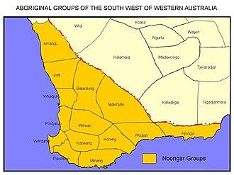 Ballardong - Noongar language groups