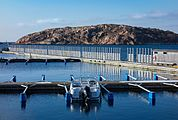 North Harbor Lysekil with motor boat.jpg