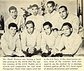 North Korean Propaganda Photograph of prisoners of the USS Pueblo, with the Hawaiian Good Luck Sign, 1968.jpg
