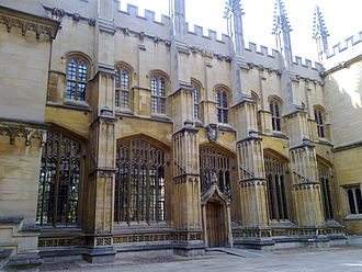 Divinity School, Oxford - Image: North face of oxford divinity school