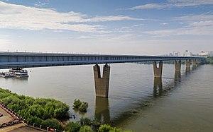 Novosibirsk Metro - Image: Novosibirsk Metro Bridge 07 2016