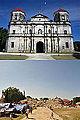 Nuestra Sra. de la Luz Parish Church, Loon, Bohol (Before and After 2013 Bohol Earthquake).jpg