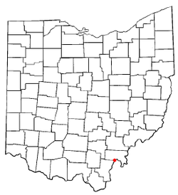 Location of Middleport, Ohio
