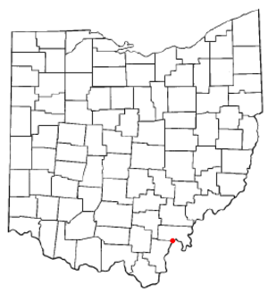 Middleport, Ohio - Image: OH Map doton Middleport