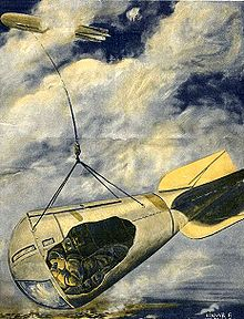 Observatory car suspended from Zeppelin Scientific American 1916-12-23 crop4.jpg