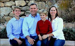 Jim Matheson - Matheson and his family