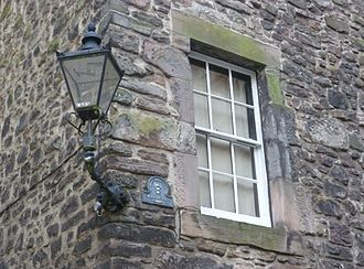Old Town, Edinburgh - A replica gas lamp in the Old Town