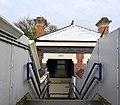On the footbridge, Poynton railway station.jpg