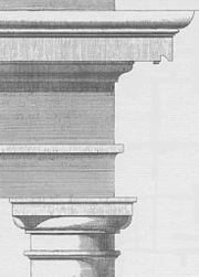 Esquema del orden toscano, según Vignola.