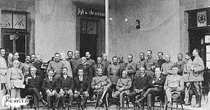 José María Orellana - General José María Orellana and his staff after the coup d'état against president Carlos Herrera in 1921.