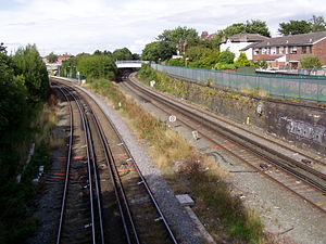 Liverpool and Bury Railway - LOPR and LBR diverge.