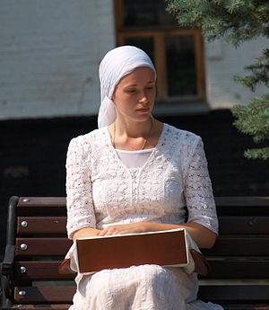 Pilgrim - Modern Orthodox pilgrim in Kiev Pechersk Lavra, Ukraine
