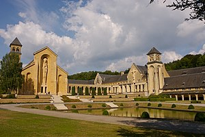 Orval Abbey - Orval Abbey Church.