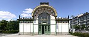 The Jugendstil Karlsplatz Stadtbahn Station by Otto Wagner