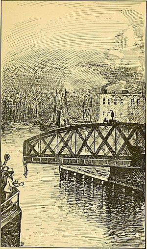 Kinzie Street railroad bridge - Railroad bridge in 1865.