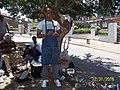 Owen & his co- workers crafting under tree 12312016 3.jpg