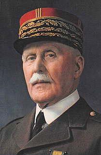 French general officer and leader of Vichy France