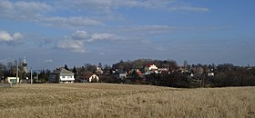 Płaza village (view from SW), Chrzanów County, Lesser Poland Voivodeship, Poland.JPG