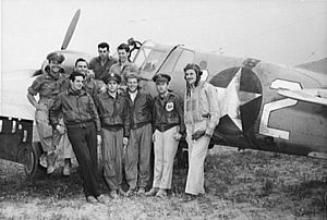 57th Operations Group - Pilots of the 64th FS, 57th FG, in North Africa, April 1943.