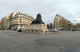 Place Denfert-Rochereau - The Lion of Belfort in the Place Denfert-Rochereau