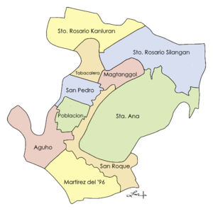 Pateros, Metro Manila - Map showing the barangays of Pateros