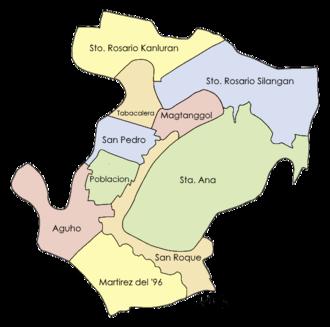 Pateros, Metro Manila - Map showing the barangays of Pateros