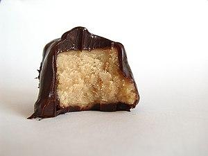 Ganache - Peanut butter fudge covered in ganache