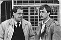 PEC-coach Rinus Israël (l) in gesprek met Johan Cruyff, Bestanddeelnr 932-3666.jpg