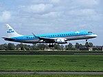 PH-EZR KLM Cityhopper Embraer ERJ-190STD (ERJ-190-100) landing at Schiphol (EHAM-AMS) runway 18R.JPG