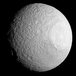 Tethys (moon) - Tethys as imaged by Cassini on 11 April 2015