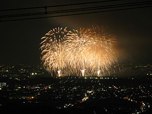 Tondabayashi, Osaka - Perfect Liberty Firework Festival in August, as famous for firework festival in Japan