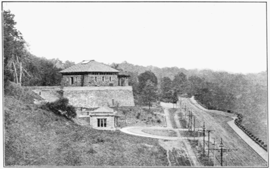 PSM V73 D315 Entrance and spillway house of the ontario power company.png