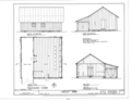 Packhouse-Storehouse - Elevations, Floor Plan and Section - Dudley Farm, Farmhouse and Outbuildings, 18730 West Newberry Road, Newberry, Alachua County, FL HABS FL-565 (sheet 15 of 22).png