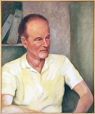 Ned R. Healy - Portrait of Ned by Earl D. Johnson circa 1960. oil on canvas, 20x24""