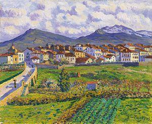 Hernani, Gipuzkoa - Darío de Regoyos, Hernani landscape, 1900 (Málaga, Carmen Thyssen Museum).