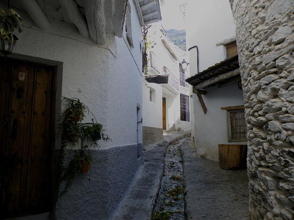 Acequia en una calle de Pampaneira