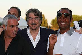 Giorgio Panariello, Marco Columbro e Carlo Conti a Viareggio nel 2009