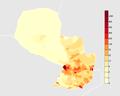 Paraguay population density.png