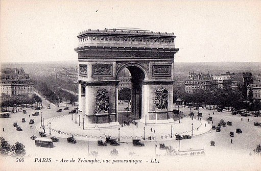 Paris. Arc de Triomphe. Postcard, c.1920