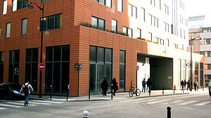 Paris Diderot University - Condorcet building, headquarters of the Department of Physics