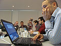 Participants in the Wikipedia and Legislative Data workshop 01.jpg
