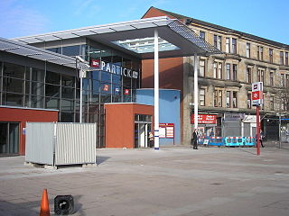 Partick station Glasgow subway and railway station