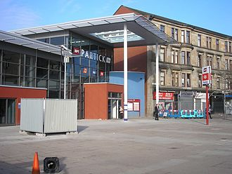 Partick station - The new façade of Partick station after a lengthy renovation