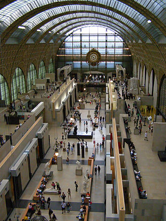 Musée d'Orsay - The interior of the museum.