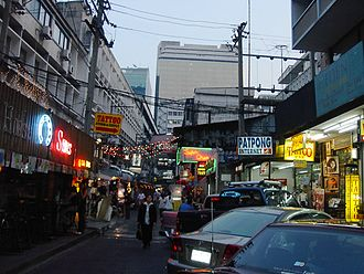 Patpong - Patpong Soi 2 at sunset