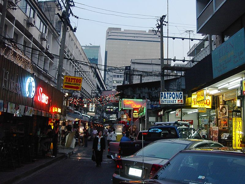 Patpong Soi 2 at sunset
