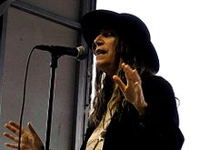Patti Smith performing at Lollapalooza Festival, Grant Park, Chicago.jpg