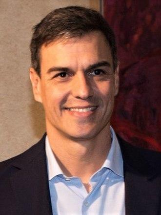 Pedro Sánchez (Spanish politician) - Image: Pedro Sánchez 2017 (cropped 4x 3)