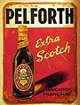 Pelforth strong ale enamel advertising sign.JPG