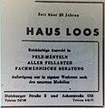 Pelzhaus Loos, Düsseldorf, Anzeige 4. November 1950.jpg